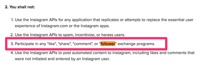 Platform Policy Instagram Help Center