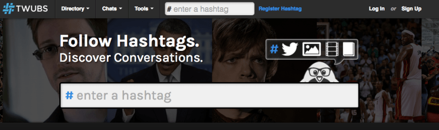 Hashtags Twubs