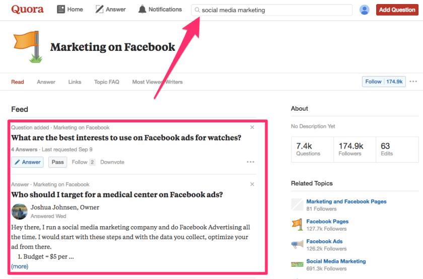 Marketing on Facebook Quora
