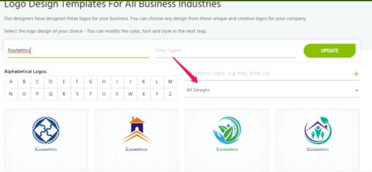 free brand logo select category