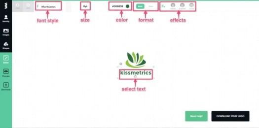 editing tools free brand logo