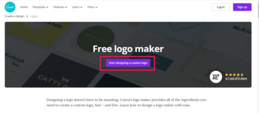 free brand logo canva example