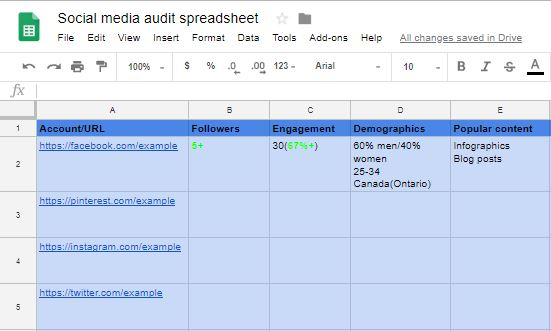 Updated spreadsheet 2