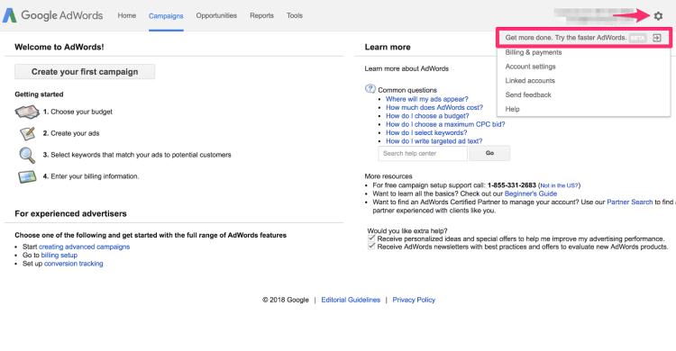 Campaign Management Google AdWords