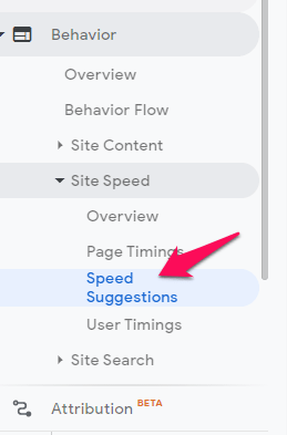 bounce rate see speed suggestions
