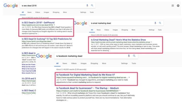 is seo dead google search