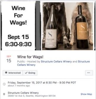 vin pour l'événement wags