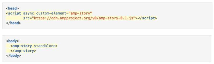 AMP story code