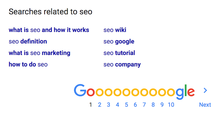 seo related
