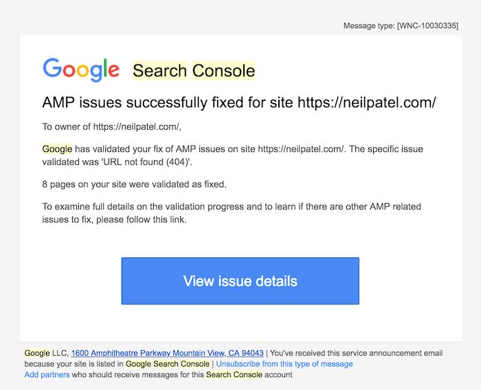 search console fix