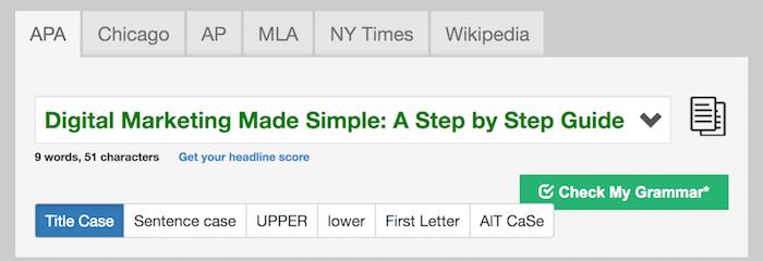 title capitalization free SEO tool