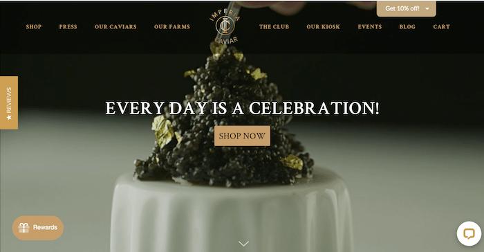 caviar 4 ps of marketing example