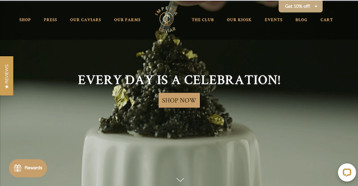 caviar 4 ps of marketing example