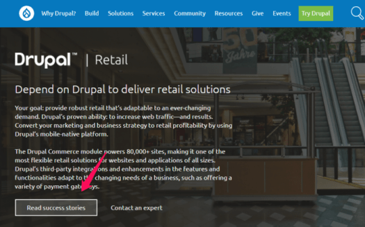 drupal case study example for retail