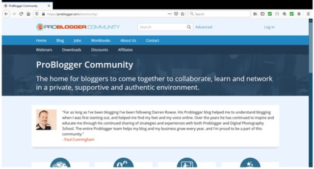 Content Marketing Trends in 2021 - Building Communities Example of Problogger