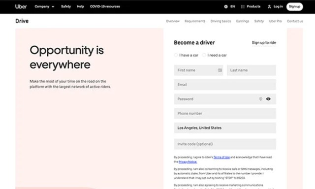 Home Business Ideas - Ride-Sharing Driver