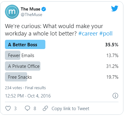 advanced twitter strategy - content question in polls
