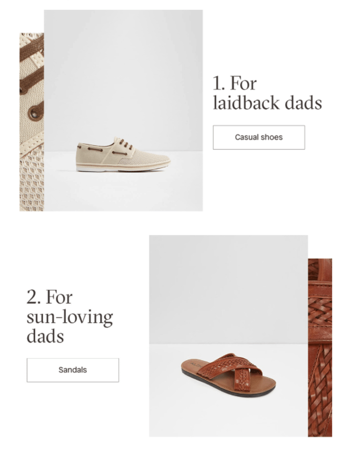 E-commerce Father's Day Sales Examples - Aldo