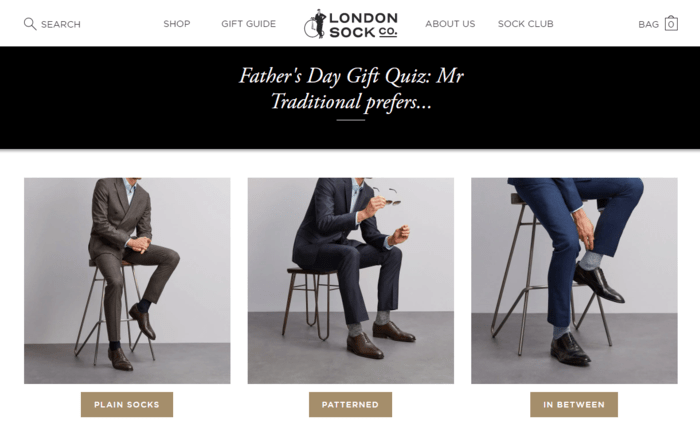 E-commerce Father's Day Sales Examples - London Sock Company