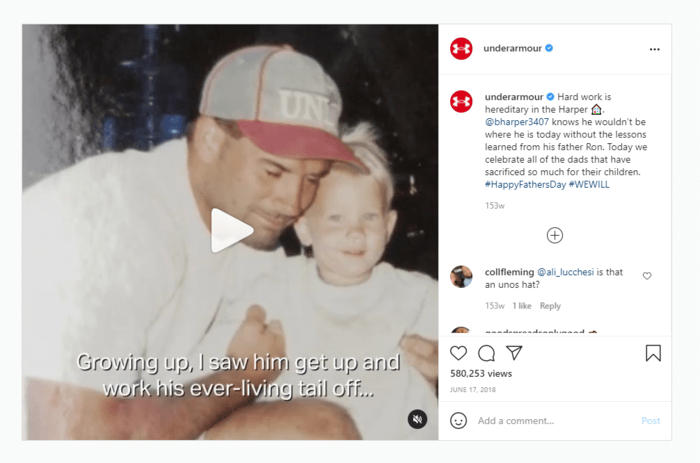 E-commerce Father's Day Sales Examples - Under Armour