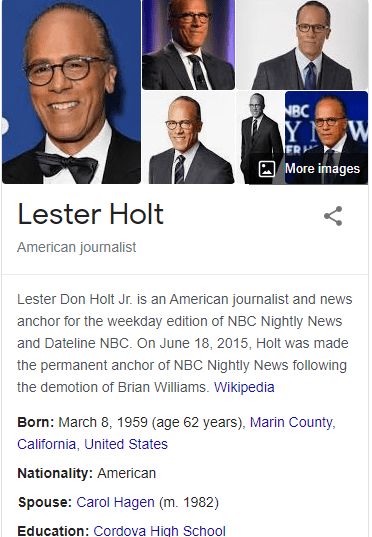 How to Authorize Your Author Knowledge Panel Account - Lester Holt Example