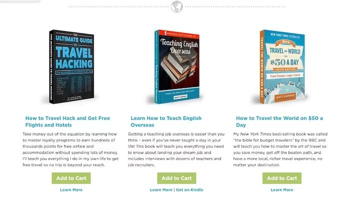 Nomadic Matt books for sale for How to Make Money Blogging