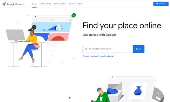 Google Domains main splash page for Best Domain Registrar