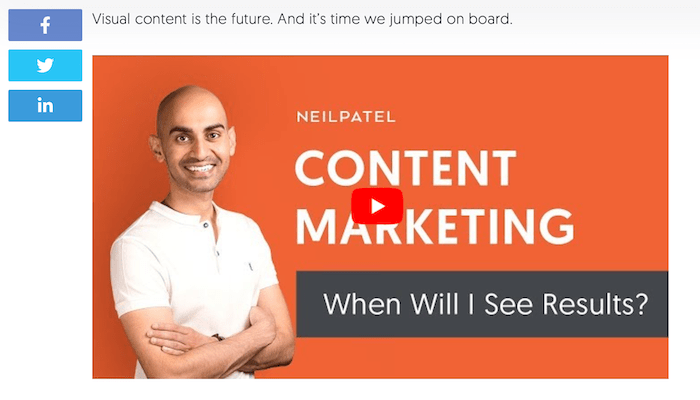 How to Create a B2B Content Marketing Strategy - Include Videos (NeilPatel example)