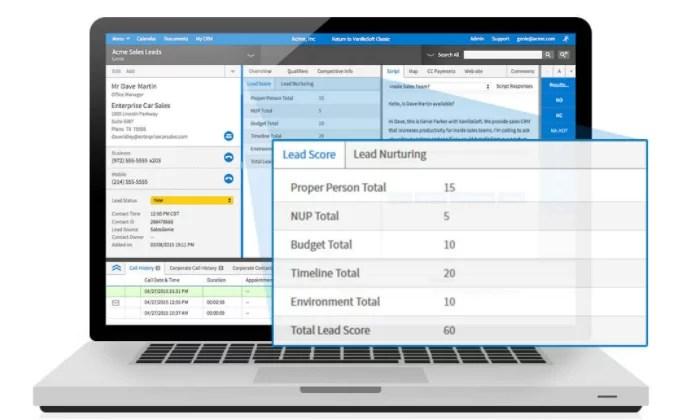 VanillaSoft interface for Best Auto Dialer Software