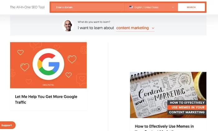 Neil Patel blog topics for How to Make Money Blogging