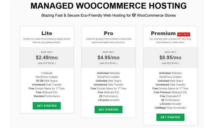 GreenGeeks WooCommerce pricing for Best Cheap Web Hosting