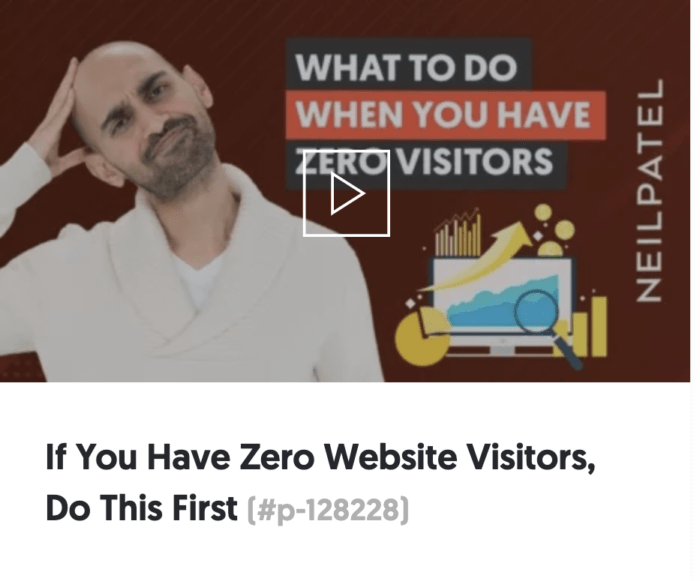 """Neil Patel example of using """"you"""" in headline"""
