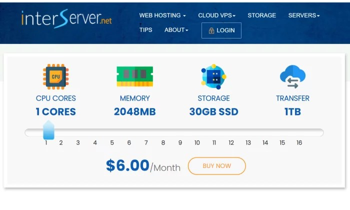 InterServer resource slider VPS pricing for Best VPS Hosting