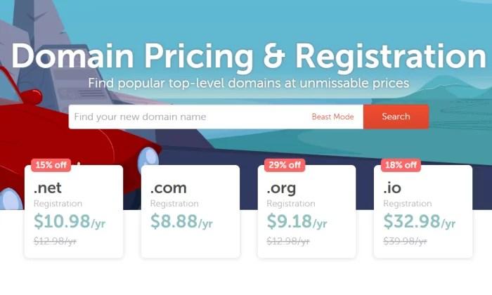 Namecheap pricing for Best Domain Registrar