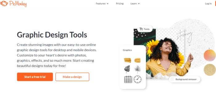 picmonkey graphic design screenshot