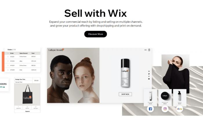 Wix splash page for Best Ecommerce Platforms