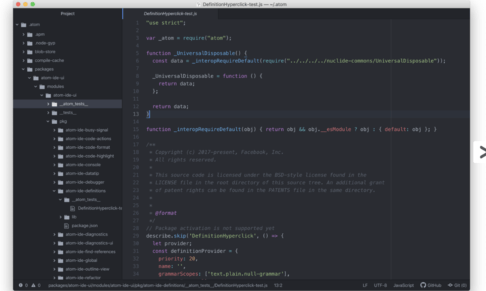 Atom interface for Best HTML Editors