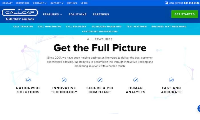 Callcap main page for Best Call Recording Software