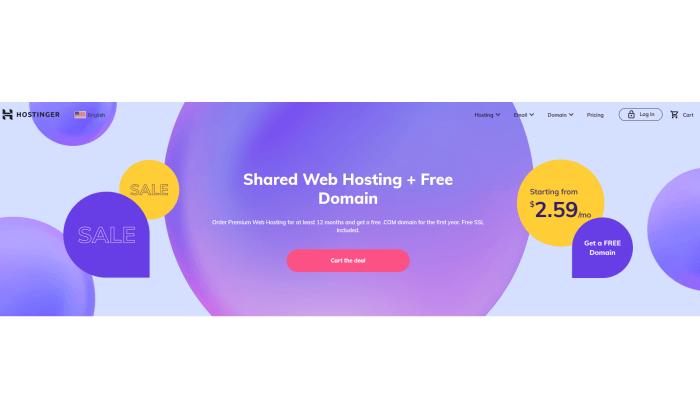 Hostinger splash page for Best Cheap Web Hosting
