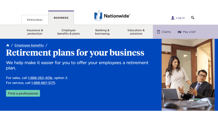 Nationwide retirement plans for Best Employee Retirement Plans