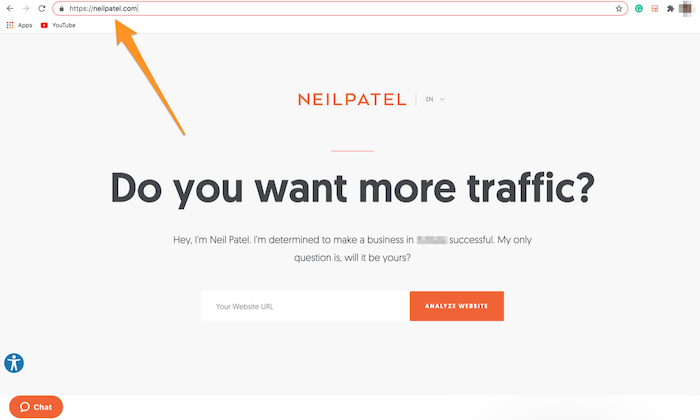 Neil Patel domain highlighted for How to Start an Online Store