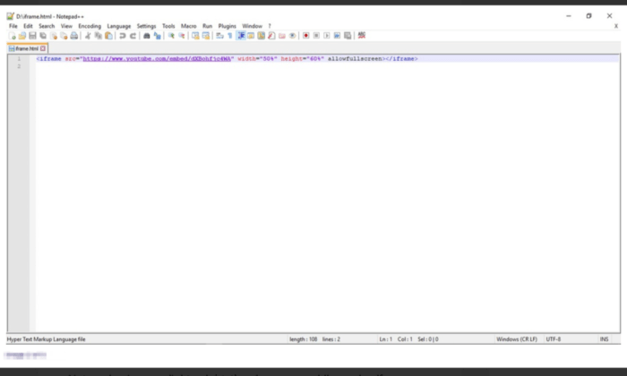 Notepad++ interface for Best HTML Editors