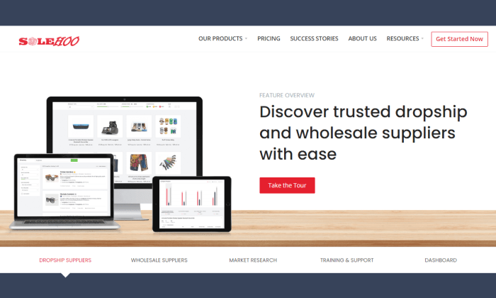 SaleHoo splash page for Best Dropshipping Companies