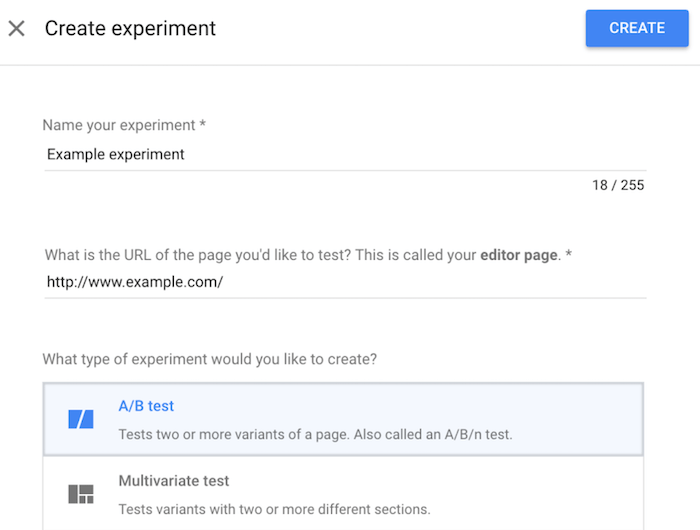 How to Measure Your Secondary Goals for A/B Testing - Create an Expirement with Google Optimize