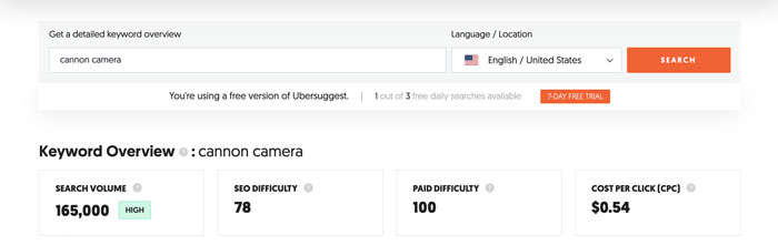 Tips to Capitalize on Misspellings and Typos in Social Listening - Use Ubersuggest to Gauge Typo Volumes