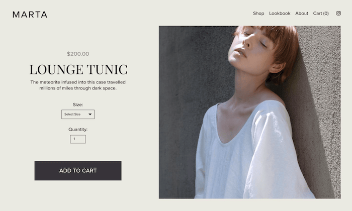Squarespace store example for Best Ecommerce Website Builders