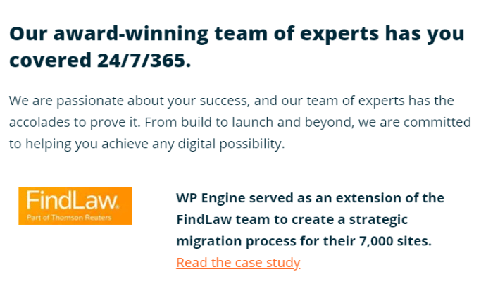 WP Engine support for WP Engine Review