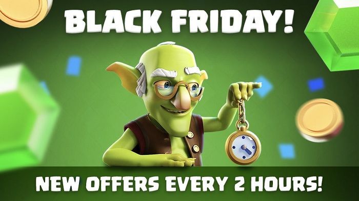 Clash of Clans Twitter Black Friday ad campaign