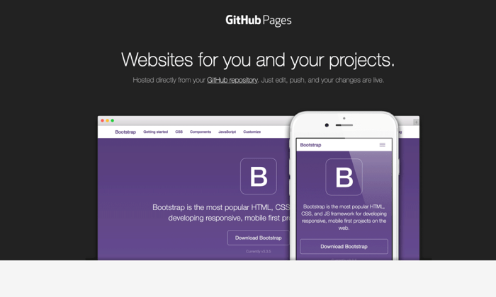 GitHub Pages builder page for Best Free Web Hosting
