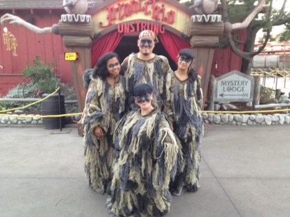 Monstro's seaweed people! Honestly, they score a lot of screams in their room. Pictured: Glenn, Crissy, Clara, and Kim.
